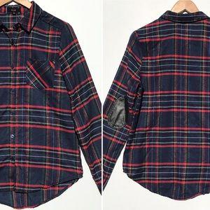 EM women's button up flannel